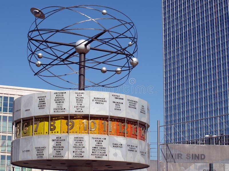alexanderplatz柏林时钟世界 库存图片