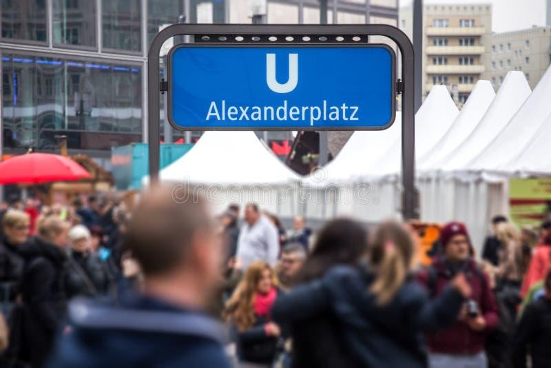 Alexanderplatz Berlijn Duitsland stock fotografie