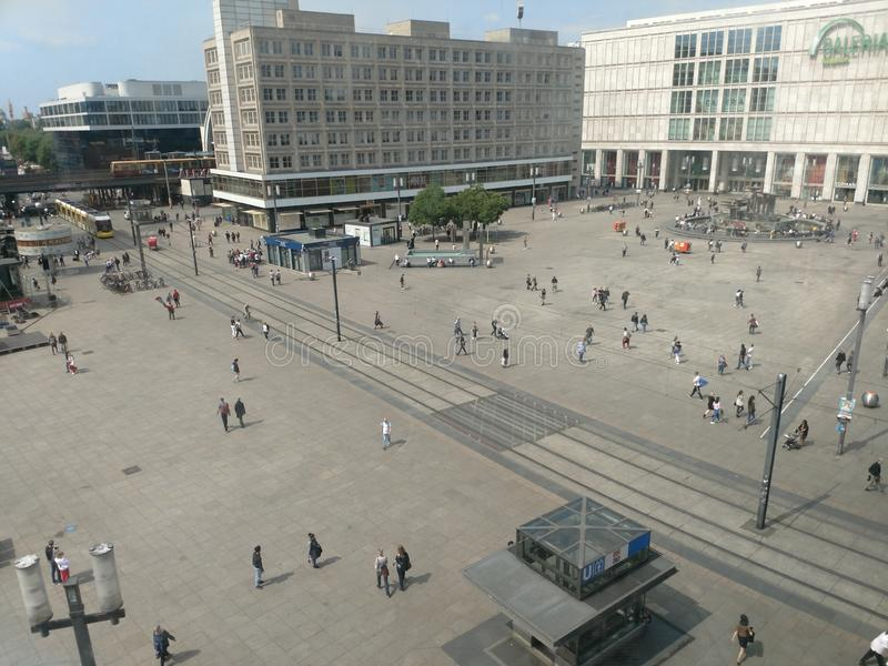 Alexanderplatz Berlijn stock fotografie