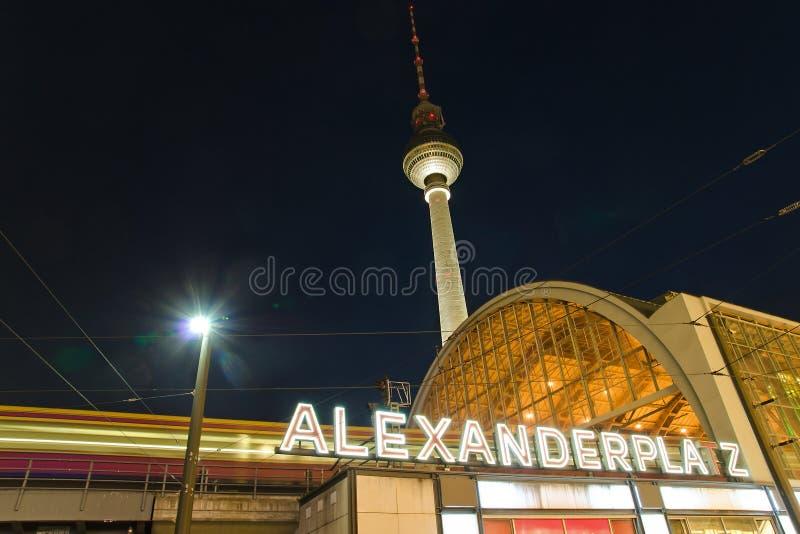 alexanderplatz berlin стоковое фото