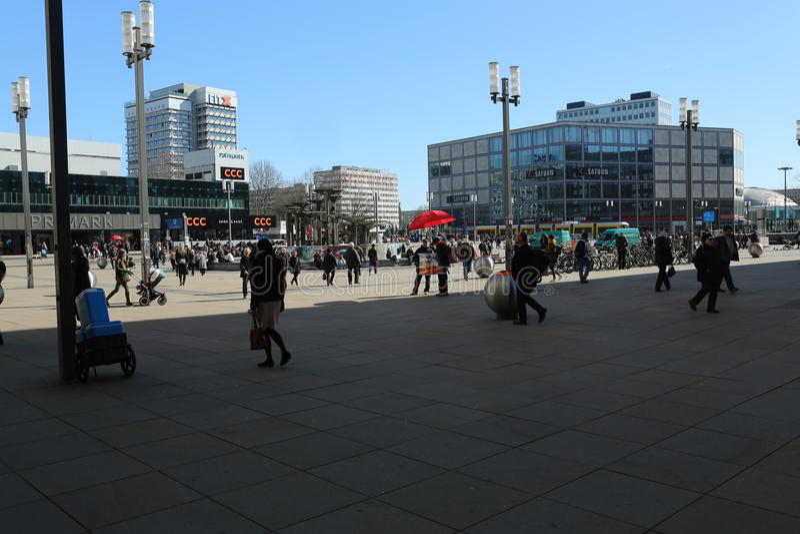 Alexanderplatz, Berlin, Deutschland lizenzfreie stockbilder