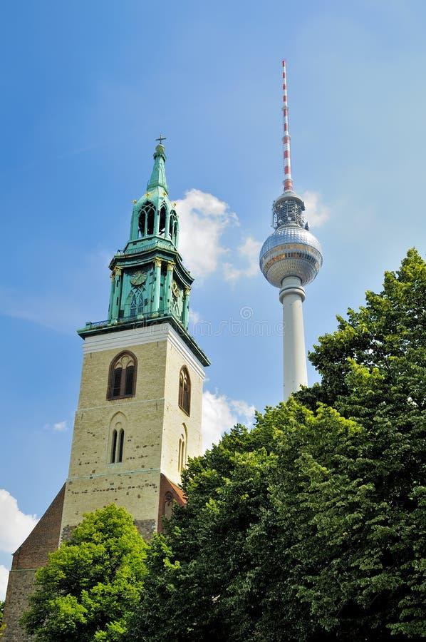 Alexanderplatz a Berlino fotografia stock libera da diritti
