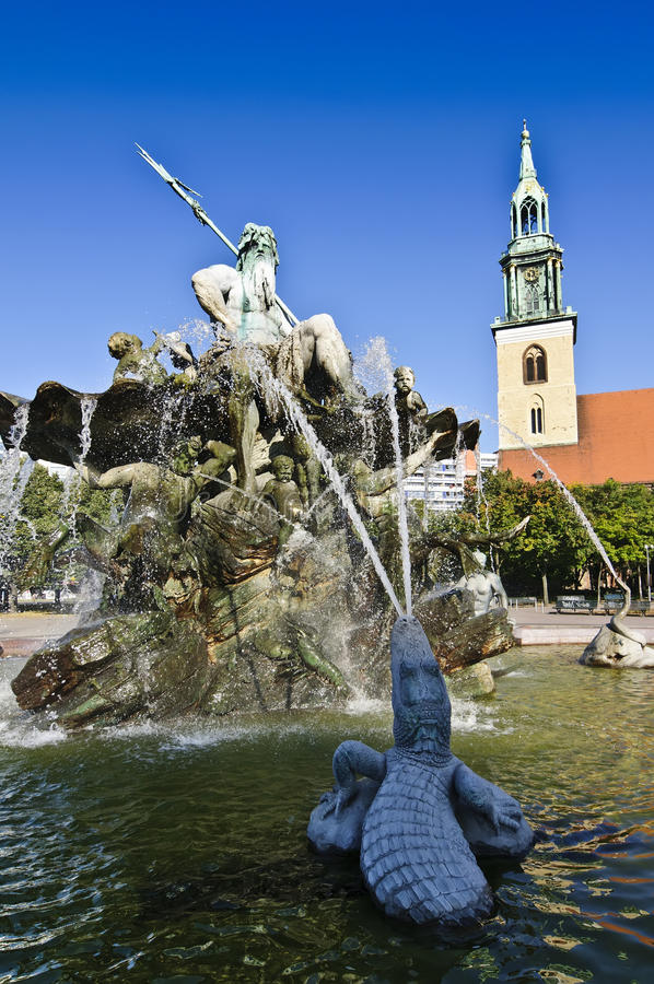 Alexanderplatz a Berlino fotografia stock