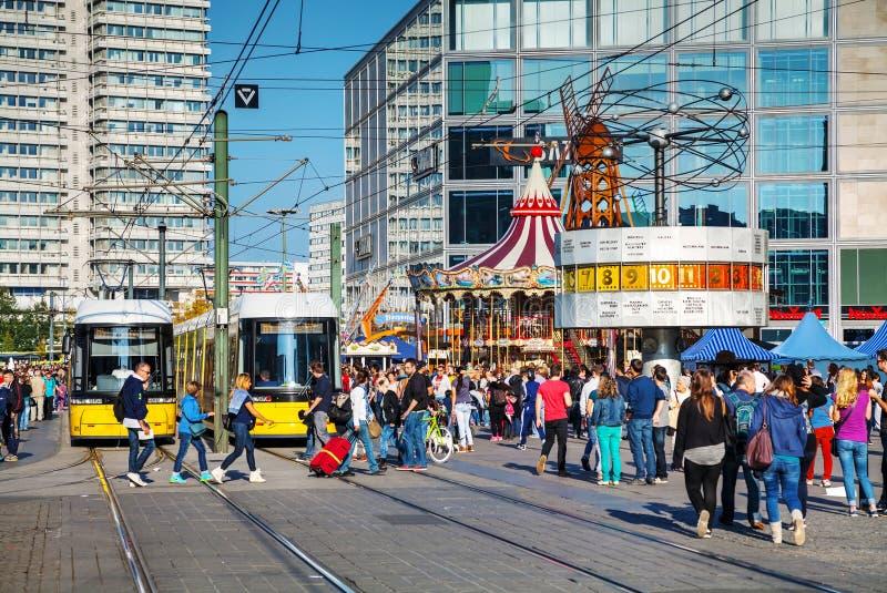 Alexanderplatzvierkant in Berlijn, Duitsland royalty-vrije stock afbeelding