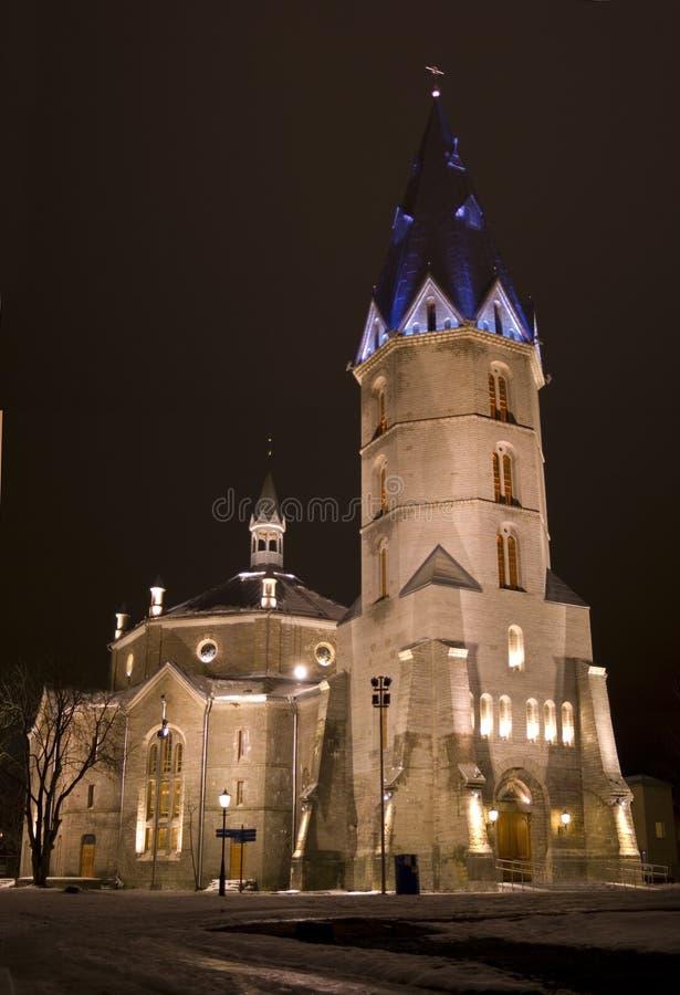 Alexanders lutherische Kirche in Narva, Estland lizenzfreies stockbild