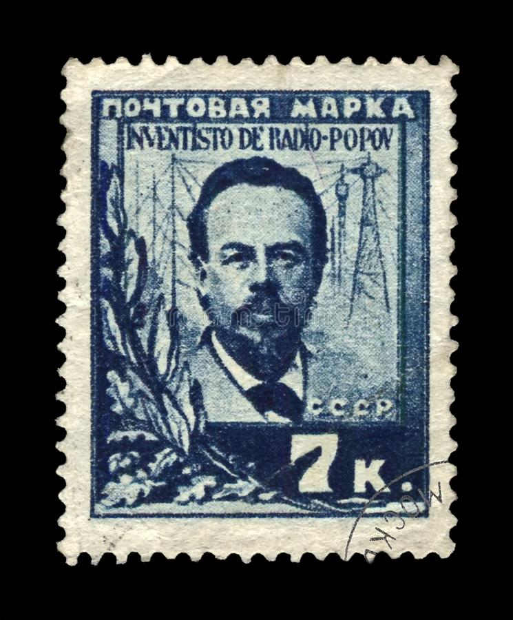 Alexandr Popov, διάσημος ρωσικός ραδιο πρωτοπόρος, ασύρματος καινοτόμος μετάδοσης, ΕΣΣΔ, circa 1925, στοκ φωτογραφίες