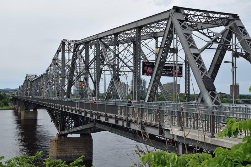 Alexandra Bridge, Ottawa, Ontário, Canadá fotos de stock