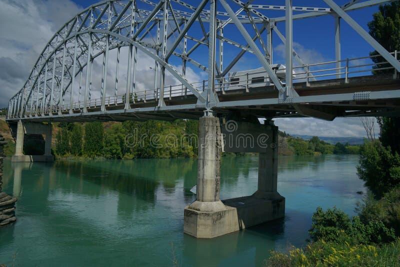 Alexandra bridges in New Zealand stock image