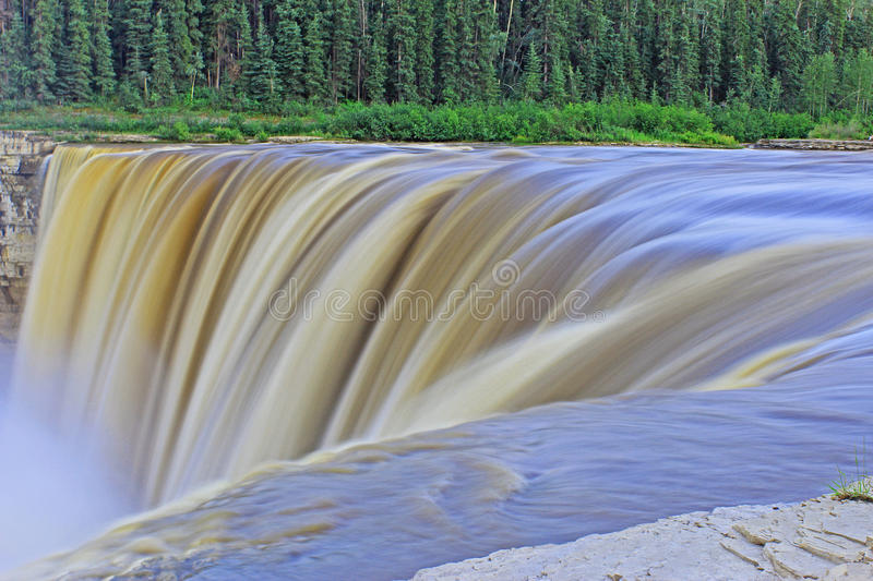 Alexandra Falls in Canada`s Northwest Territories Long Exposure royalty free stock photos