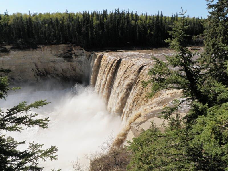 Alexandra Falls NWT, Canadá fotos de archivo