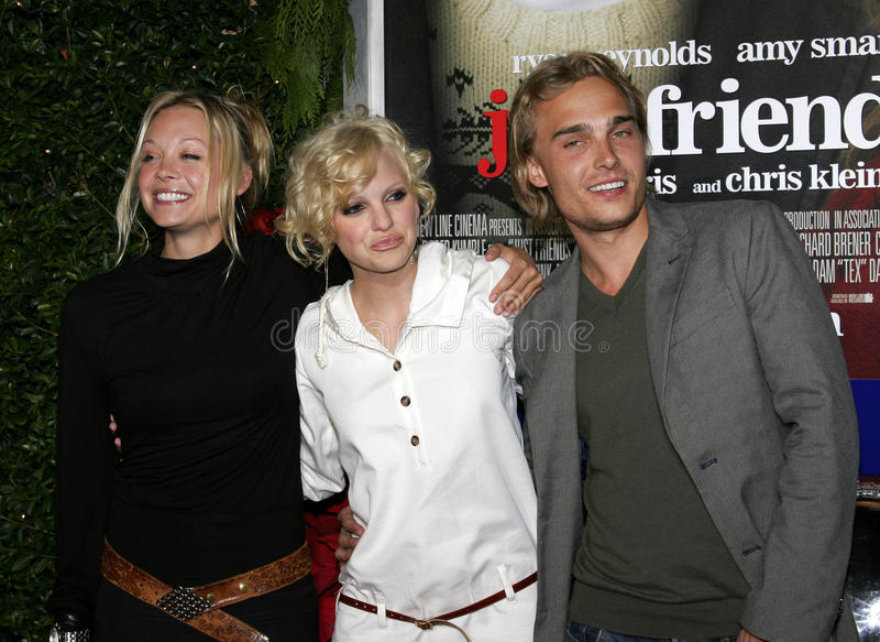 Alexandra Holden, Anna Faris e Joey Kern fotografie stock