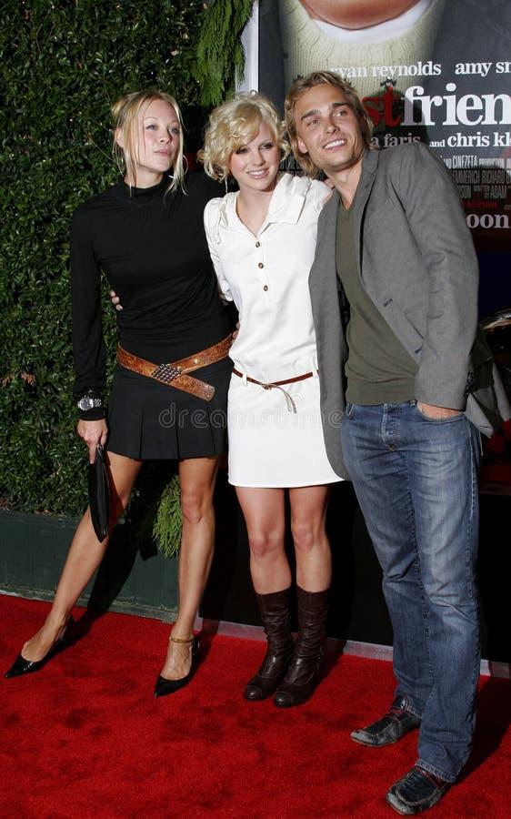 Alexandra Holden, Anna Faris en Joey Kern royalty-vrije stock foto