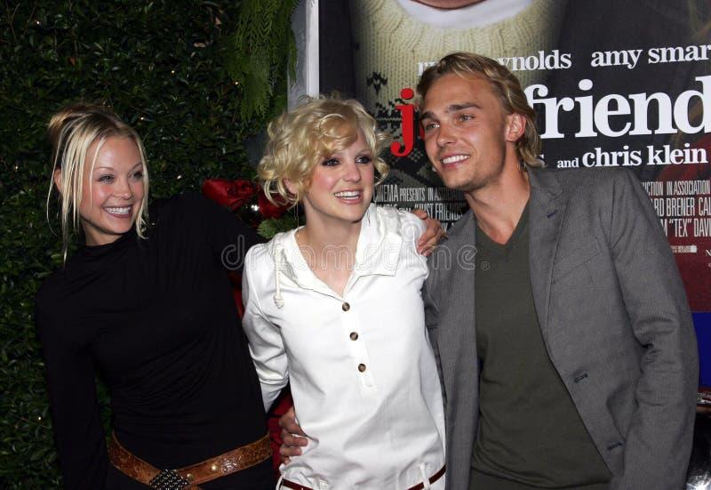 Alexandra Holden, Anna Faris och Joey Kern royaltyfria foton