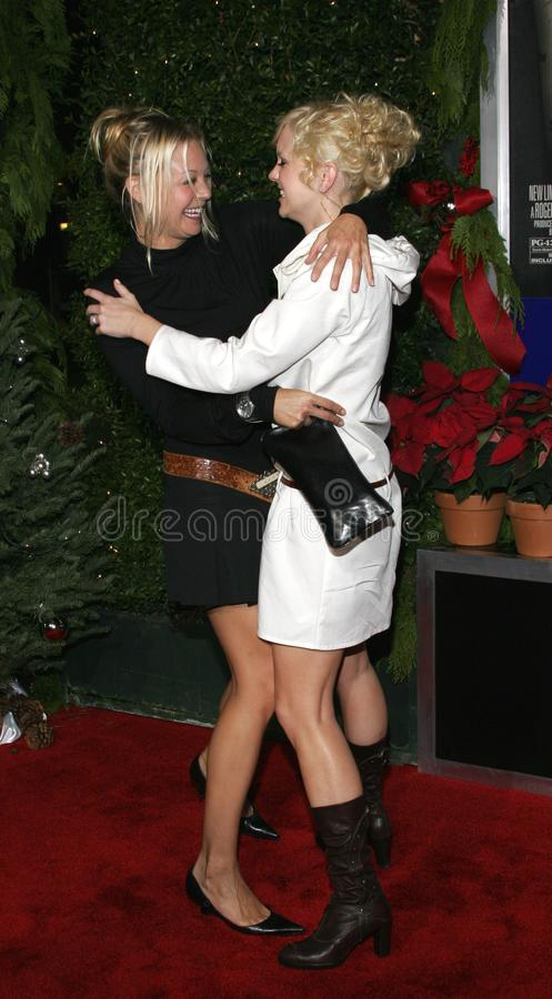 Alexandra Holden and Anna Faris. WESTWOOD, CALIFORNIA. November 14, 2005. Alexandra Holden and Anna Faris at the `Just Friends` Premiere at the Mann Village stock photography