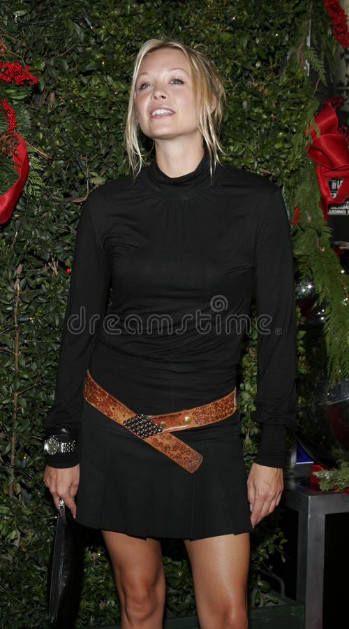 Alexandra Holden. WESTWOOD, CALIFORNIA. November 14, 2005. Alexandra Holden at the `Just Friends` Premiere at the Mann Village Theatre in Westwood, California stock photos