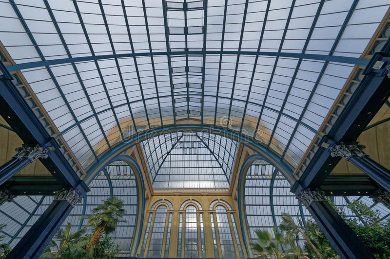 Alexandra Palace. Image of interior of Alexandra Palace and stained glass ceiling in London, England royalty free stock photo