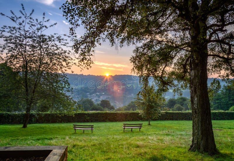 Alexandra Park (Bath, l'Angleterre) R-U image stock