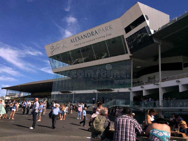Alexandra Park Raceway in Auckland Nieuw Zeeland stock afbeelding
