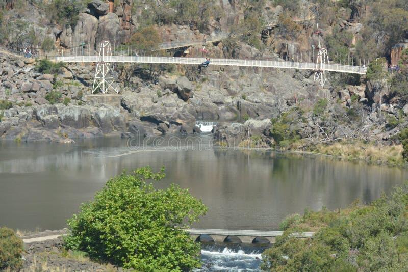 Alexandra Suspension-brug Launceston Tasmanige Australië royalty-vrije stock afbeeldingen