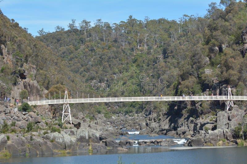 Alexandra Suspensions-Brücke Launceston Tasmanien Australien stockbild