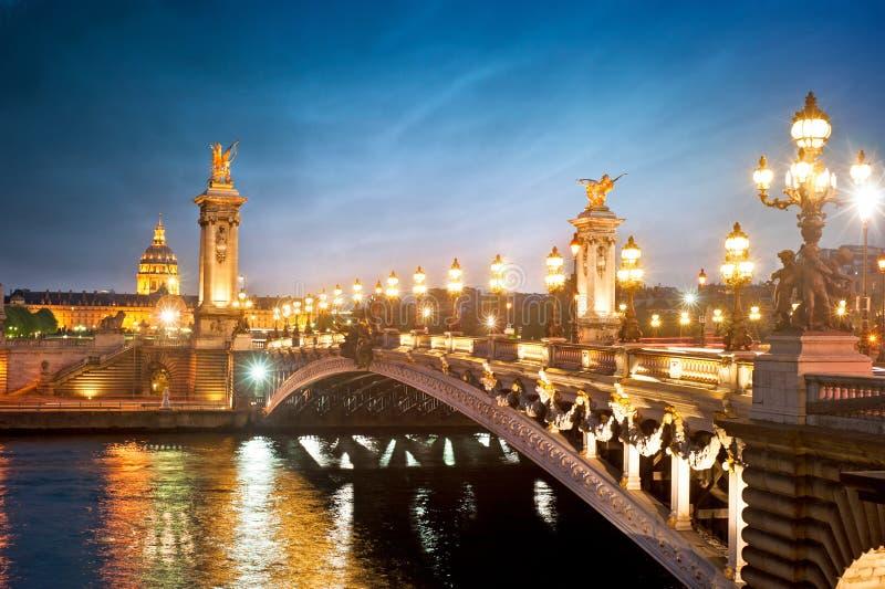 Alexandre 3 bridge - Paris - France royalty free stock photography