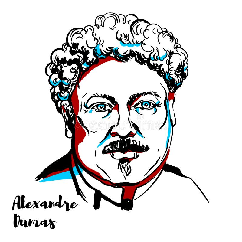 Alexandre Dumas illustration libre de droits