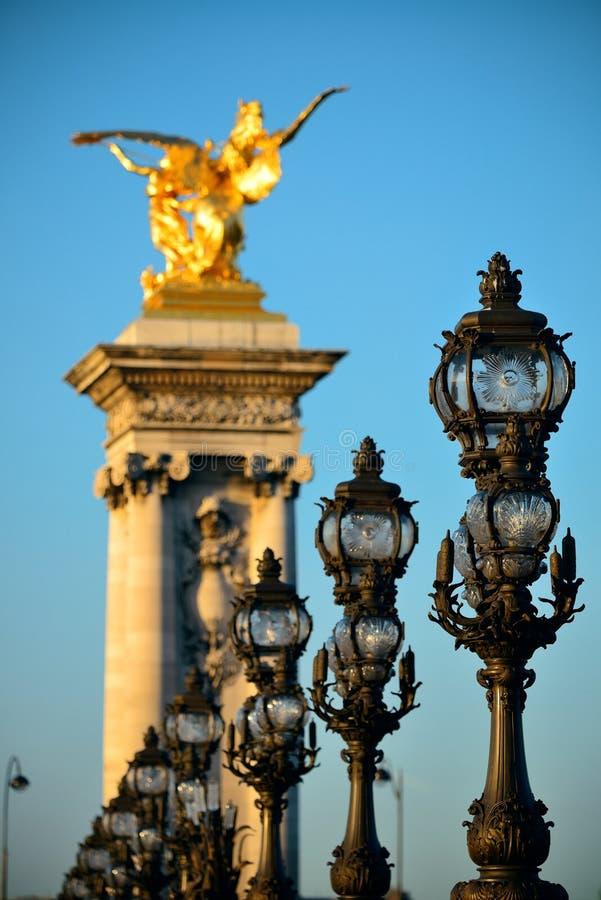 Alexandre III bridge royalty free stock photos