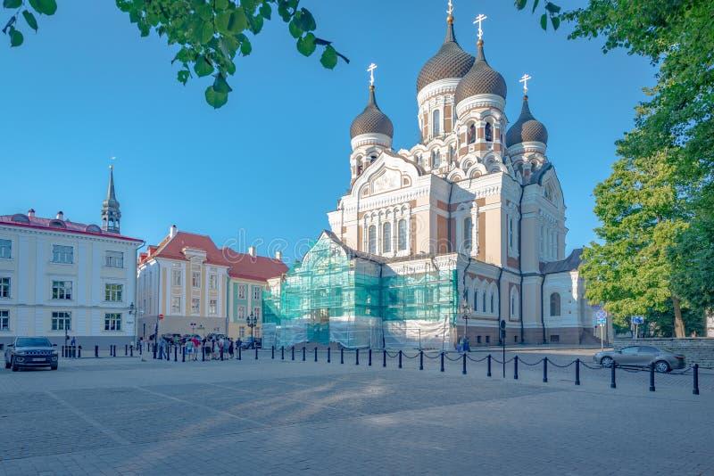 Alexandre Nevsky Cathedral, Tallinn, Estonia imagen de archivo libre de regalías