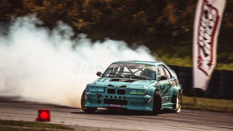 Александр Страно за рулем BMW E36 M3 Turbo от Strano Autosport. Ошерслебен, Германия, 31 августа 2019 года: Александр Страно за рулем BMW E36 M3 Turbo by Strano роялти бесплатные стоковые фотографии