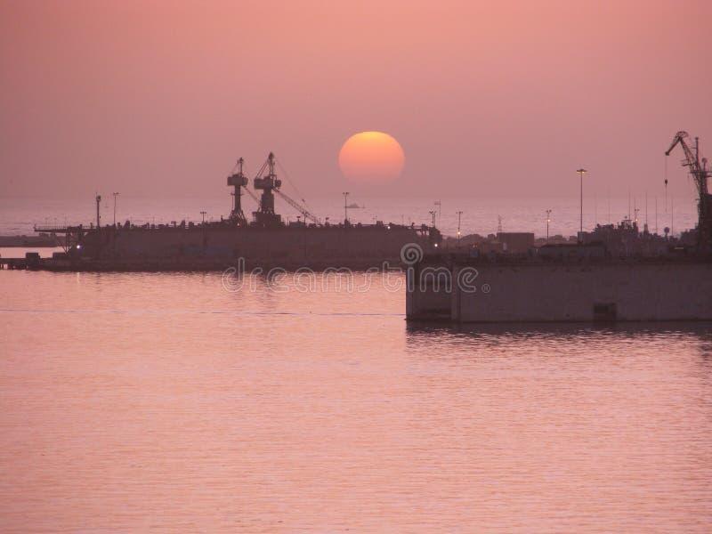 Alexandria Egypt-haven royalty-vrije stock afbeelding