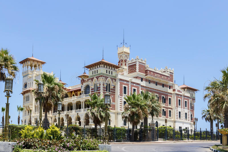 alexandria Egypt montaza pałac obrazy royalty free