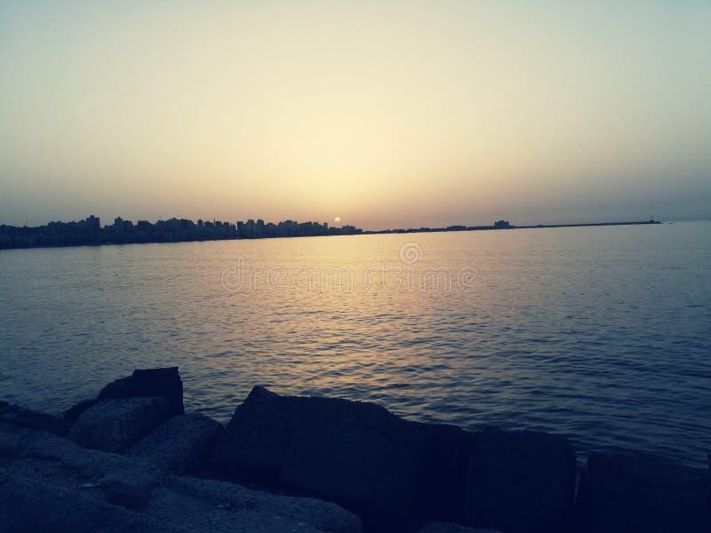 Alexandria of egypt summer 2018 stock photo