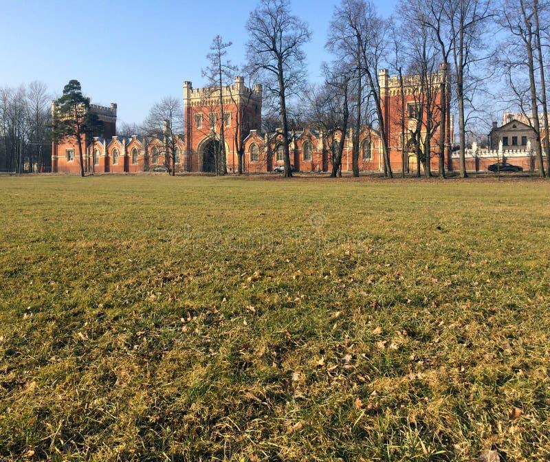 Alexandria Park in Peterhof, Russland lizenzfreie stockbilder