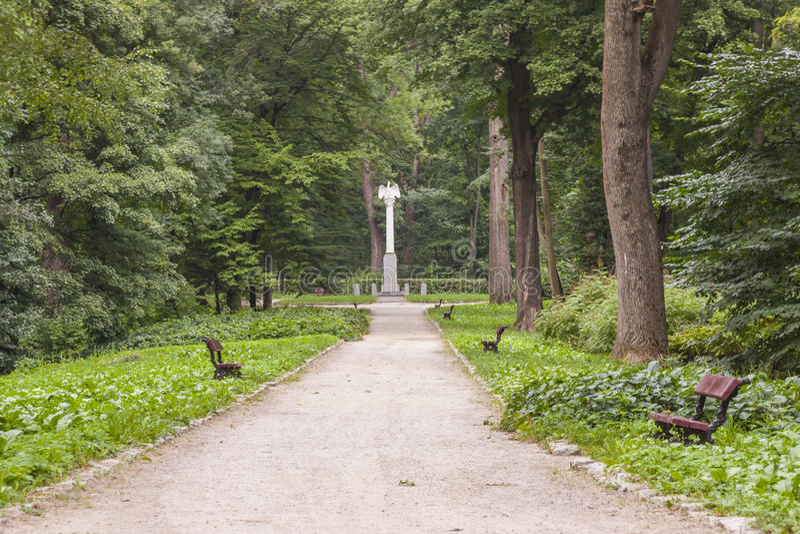 Alexandria parkerar - Bila Tserkva, Ukraina. royaltyfri bild