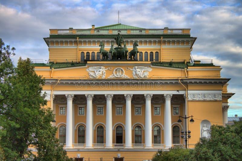 Alexandrine Theatre dans le St Petersbourg photos stock