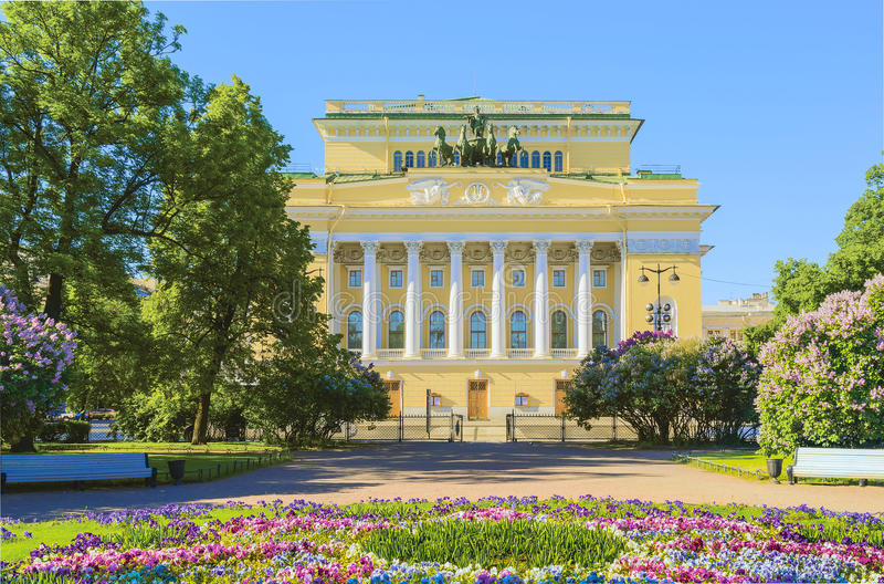 Alexandrinsky teatr w Petersburg, Rosja obraz royalty free