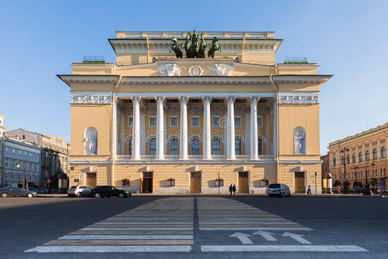 Alexandrinskytheater, Heilige Petersburg royalty-vrije stock foto's