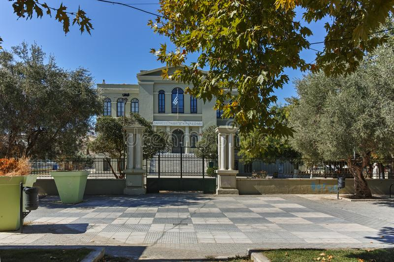 ALEXANDROUPOLI, GREECE - SEPTEMBER 23, 2017: Park in town of Alexandroupoli, East Macedonia and Thrace. Greece royalty free stock images