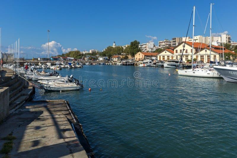 Port and Panorama to town of Alexandroupoli, East Macedonia and Thrace, Greece. ALEXANDROUPOLI, GREECE - SEPTEMBER 23, 2017: Port and Panorama to town of stock photos