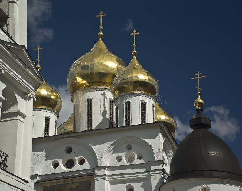 Alexandrov. Cupole. La Russia immagini stock libere da diritti