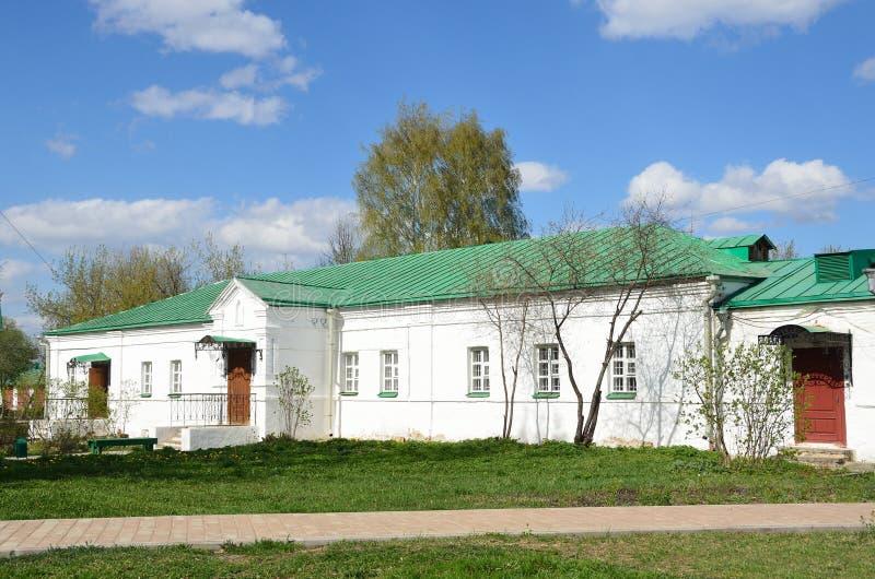 Alexandrov, Rusland, mag, 02,2014 De het ziekenhuisbouw in Alexandrovskaya Sloboda, Alexandrov-stad, Vladimir-gebied stock afbeeldingen