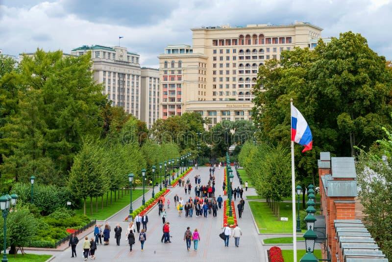 Alexandrovsky庭院 免版税库存图片