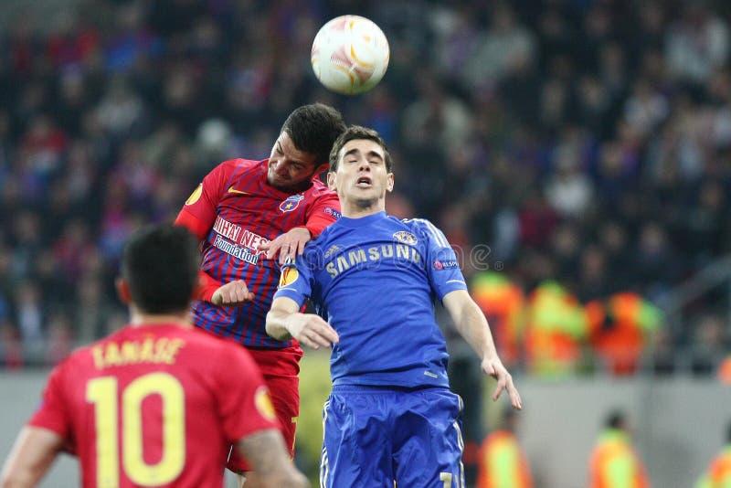 Steaua Bucarest - Chelsea Londra fotografia stock libera da diritti
