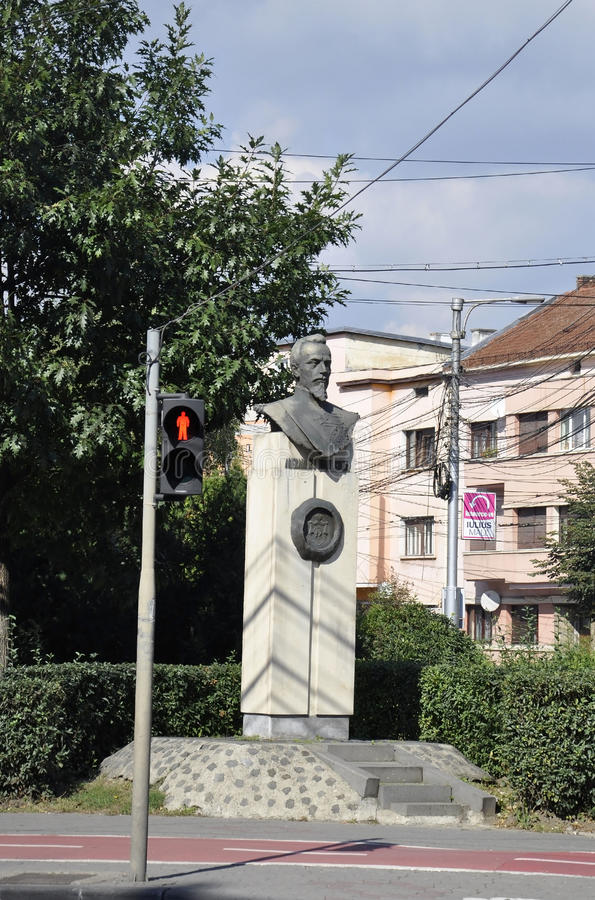 Alexandru Ioan Cuza Monument from Cluj-Napoca from Transylvania in Romania royalty free stock images