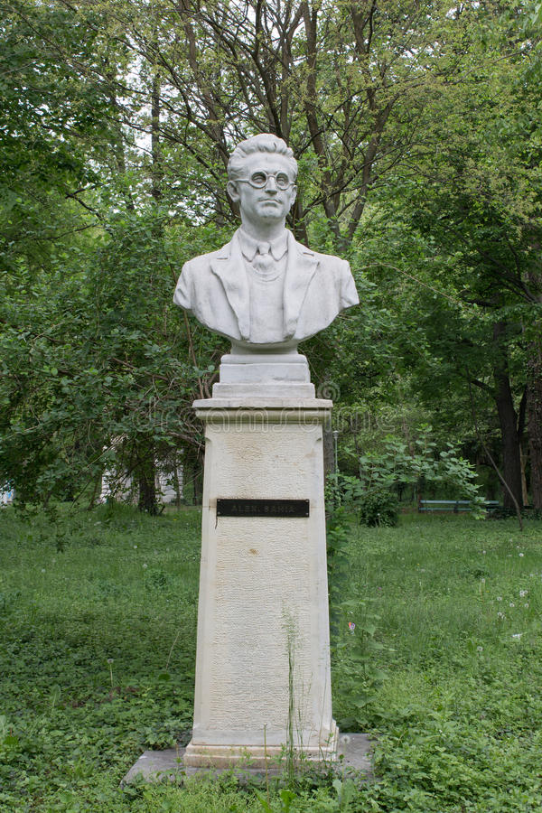 Alexandru Sahia monument in Bucharest stock images