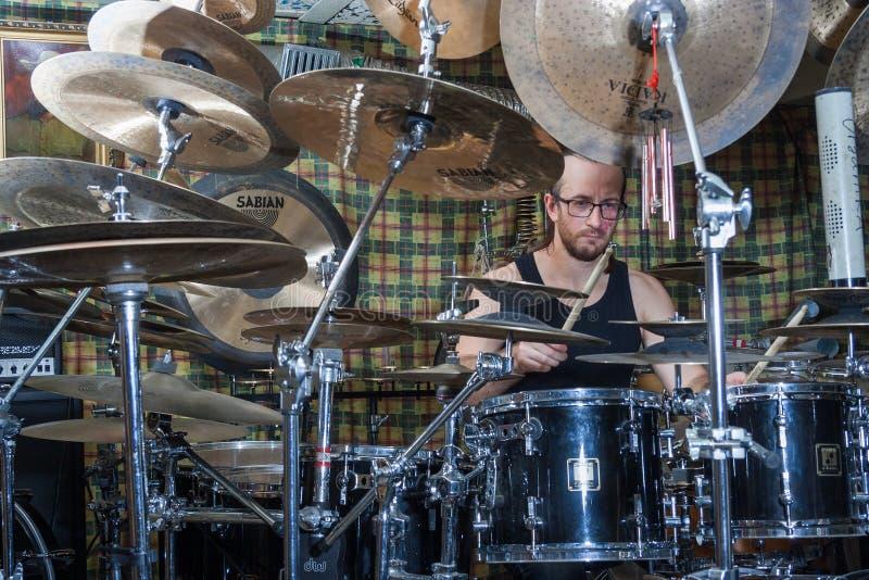 Alexey Bobrovsky melodiskt trumma royaltyfria bilder