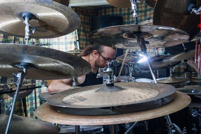 Alexey Bobrovsky melodiskt trumma royaltyfria foton