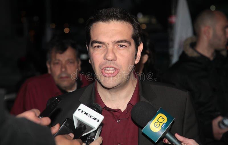 Alexis Tsipras immagini stock