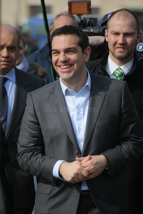 Alexis Tsipras fotografie stock libere da diritti