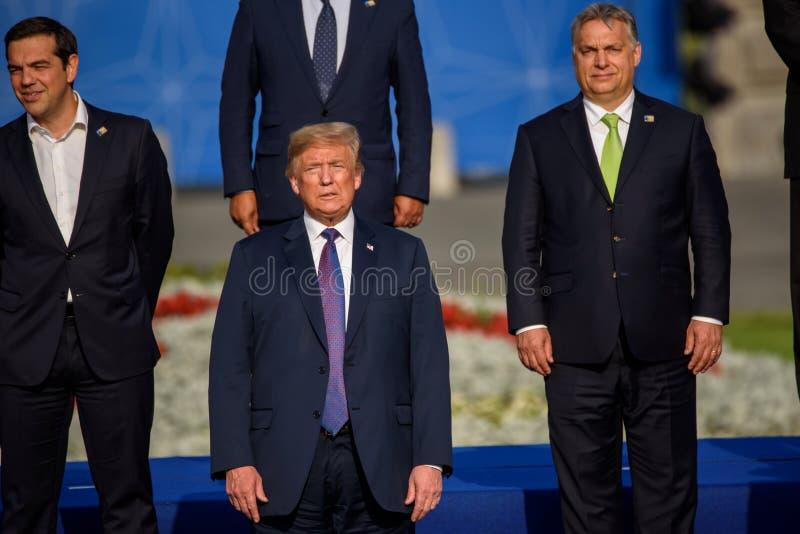 Alexis Tsipras, Donald Trump et Viktor Orban photos libres de droits